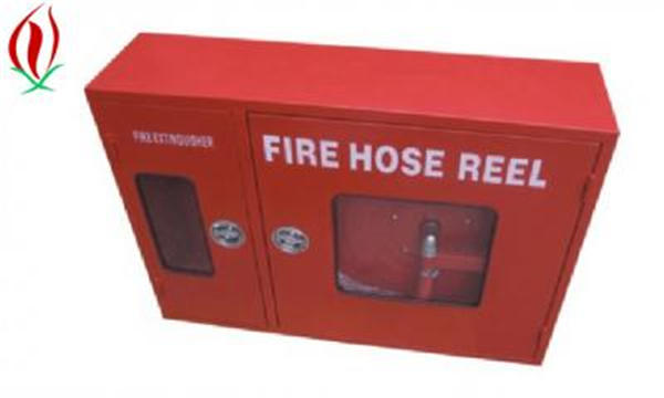 fire extinguisher and fire hose reel cabinet